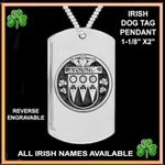 (Custom) Irish Disk Coat of Arms Stainless Steel Dog Tag TH5