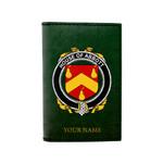 (Laser Personalized Text) Abbott Family Crest Minimalist Wallet K6
