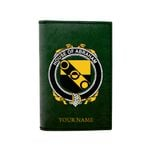 (Laser Personalized Text) Abraham Family Crest Minimalist Wallet K6