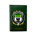 (Laser Personalized Text) Acheson Family Crest Minimalist Wallet K6