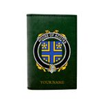 (Laser Personalized Text) Acotes Family Crest Minimalist Wallet K6