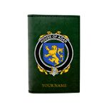 (Laser Personalized Text) Agar Family Crest Minimalist Wallet K6
