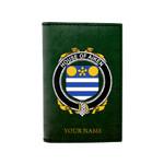 (Laser Personalized Text) Aiken Family Crest Minimalist Wallet K6