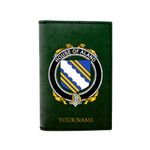 (Laser Personalized Text) Aland Family Crest Minimalist Wallet K6