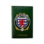 (Laser Personalized Text) Aldborough Family Crest Minimalist Wallet K6