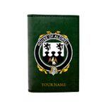 (Laser Personalized Text) Aldwell Family Crest Minimalist Wallet K6