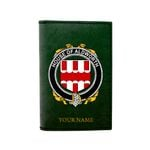 (Laser Personalized Text) Aldworth Family Crest Minimalist Wallet K6