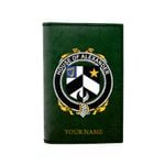 (Laser Personalized Text) Alexander Family Crest Minimalist Wallet K6
