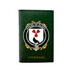 (Laser Personalized Text) Algeo Family Crest Minimalist Wallet K6
