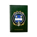 (Laser Personalized Text) Alleet Family Crest Minimalist Wallet K6