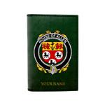 (Laser Personalized Text) Allen Family Crest Minimalist Wallet K6