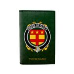 (Laser Personalized Text) Alley Family Crest Minimalist Wallet K6