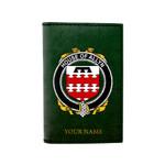 (Laser Personalized Text) Allyn Family Crest Minimalist Wallet K6