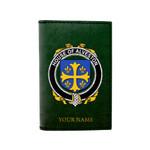 (Laser Personalized Text) Alveston Family Crest Minimalist Wallet K6