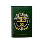 (Laser Personalized Text) Ambrose Family Crest Minimalist Wallet K6