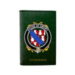 (Laser Personalized Text) Amory Family Crest Minimalist Wallet K6