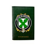 (Laser Personalized Text) Ancketill Family Crest Minimalist Wallet K6