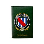 (Laser Personalized Text) Annesley Family Crest Minimalist Wallet K6