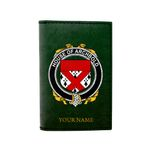 (Laser Personalized Text) Archbold Family Crest Minimalist Wallet K6