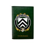 (Laser Personalized Text) Archdekin Family Crest Minimalist Wallet K6