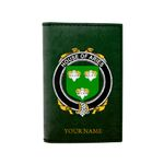 (Laser Personalized Text) Aries Family Crest Minimalist Wallet K6