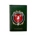(Laser Personalized Text) Armitage Family Crest Minimalist Wallet K6