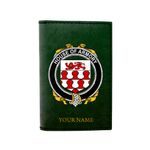 (Laser Personalized Text) Armory Family Crest Minimalist Wallet K6