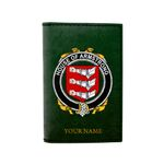 (Laser Personalized Text) Armstrong Family Crest Minimalist Wallet K6