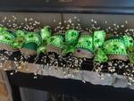 (USA only) St Patricks Day Decoration, Saint Patricks Garland, Green Clover Garland, St Patricks Swag, Mantle Decoration, Spring Decoration TH7