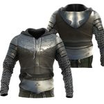 1stireland Hoodie, 3D Chainmail Knight Medieval Armor Th00