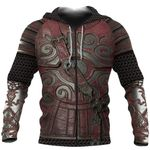 1stireland Zip Up Hoodie, 3D Lord of the Rings Armor Th00