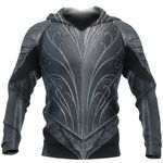 1stireland Zip Up Hoodie, 3D Thraindrull Armor Th00