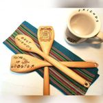 3pcs/set Friends Wooden Spoon