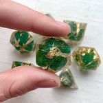 4 Leaves Clover Dice TH7 - Set of 7