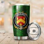 Abbott Family Crest Ireland Shamrock Tumbler Cup K6
