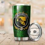 Abraham Family Crest Ireland Shamrock Tumbler Cup K6