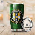 Accotts Family Crest Ireland Shamrock Tumbler Cup K6