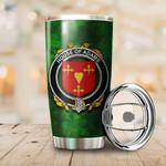 Adams Family Crest Ireland Shamrock Tumbler Cup  K6