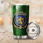 Agar Family Crest Ireland Shamrock Tumbler Cup  K6