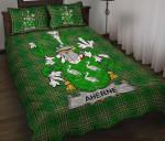 Aherne or Mulhern Ireland Quilt Bed Set Irish National Tartan A7