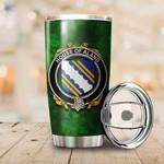 Aland Family Crest Ireland Shamrock Tumbler Cup  K6