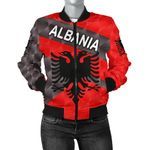 Albania Women Bomber Jacket Sporty Style K8