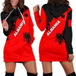 Albania Women Hoodie Dress Light Ray Version K12