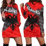 Albania Women Hoodie Dress Sporty Style K8