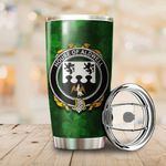 Aldwell Family Crest Ireland Shamrock Tumbler Cup  K6