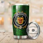 Alister or McAlister Family Crest Ireland Shamrock Tumbler Cup  K6
