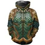 All Over Printed Aquaman Zip-Up Hoodie Th5