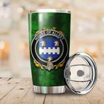 Alleet Family Crest Ireland Shamrock Tumbler Cup  K6