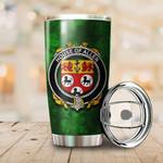 Allen Family Crest Ireland Shamrock Tumbler Cup  K6