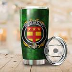 Alley Family Crest Ireland Shamrock Tumbler Cup  K6